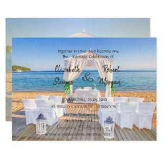Tropical Beach Arbor  Wedding  Invitations