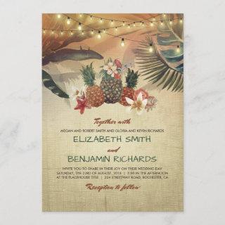 Tropical Beach Palms and Pineapples Wedding
