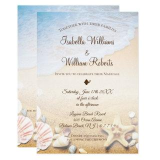 Tropical Beach Starfish Wedding Invitations