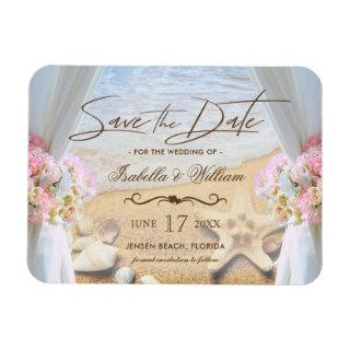 Tropical Beach Wedding Starfish Save the Date Magnet