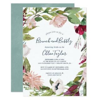 Tropical Breeze Brunch and Bubbly Invitations