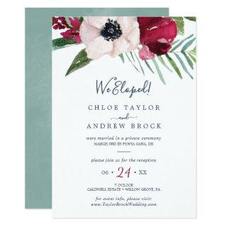Tropical Breeze Elopement Reception Invitations