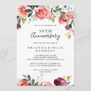 Tropical Colorful Summer 50th Wedding Anniversary