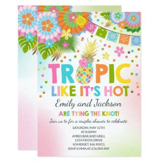 Tropical Couples Shower Invitation Tropical Shower