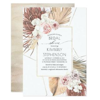 Tropical Earthy Jungle Foliage Oasis Bridal Shower Invitations