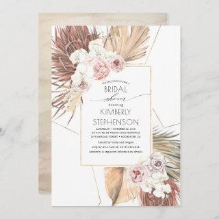 Tropical Earthy Jungle Foliage Oasis Bridal Shower Invitation
