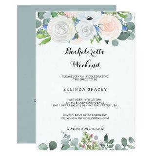 Tropical Eucalyptus Greenery Bachelorette Weekend Invitation