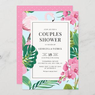 Tropical Flamingo and Orchid Summer Couples Shower