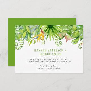 Tropical Florals Save The Date