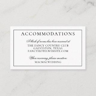 Tropical Pineapple Island Wedding Accommodations Enclosure Card