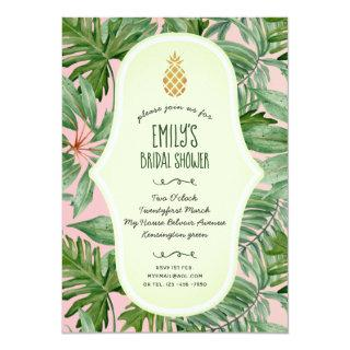 Tropical Pink BRIDAL SHOWER Pineapple Luau Invitations