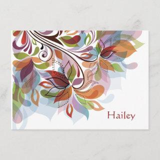 Tropical Rainbow Personalized Stationery Notecard