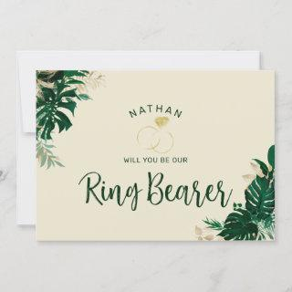 Tropical Themed Be Our Ring Bearer Proposal Card