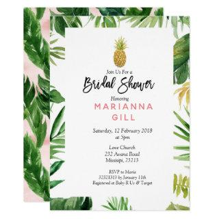 Tropical Themed Pineapple bridal shower Invitations