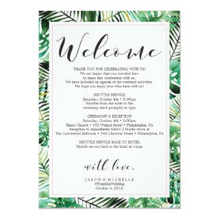 Tropical Wedding Itinerary Welcome Letter Invitations
