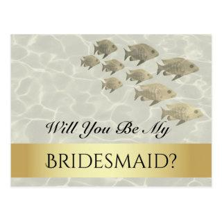 Tropical Will You Be My Bridesmaid Proposal Card