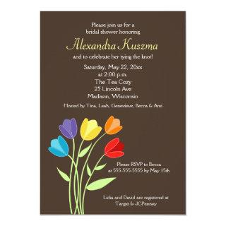 Tulip Flower 5x7 Bridal Shower Invite
