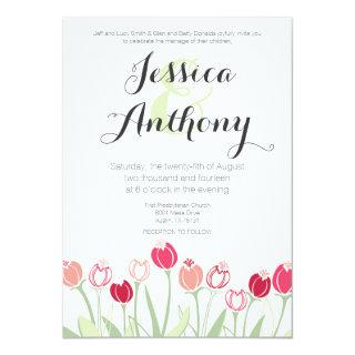 Tulips Wedding Invitations | Red Colors