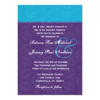 Turquoise and Royal Purple Wedding Template G320A