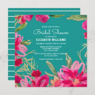Turquoise | Fuchsia Floral Bridal Shower