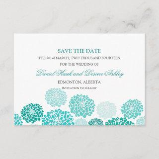 Turquoise Garden Wedding SAVE THE DATE