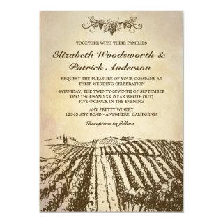 Tuscan Winery Vintage Vineyard Wedding Invitations