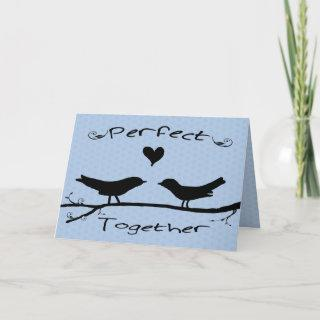 Two Birds Perfect Together Engagement Card