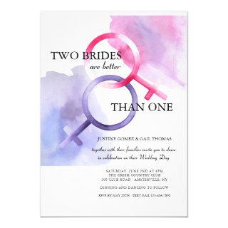 Two Brides are Better than One Wedding Invitation