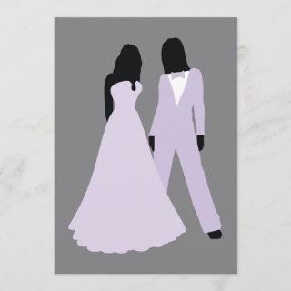 Two Brides Wedding (Lilac And Grey)