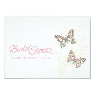 Two butterflies graphic bridal shower Invitations
