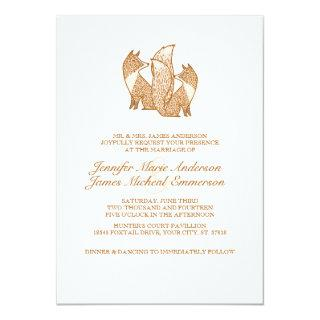 Two Foxes Wedding Invitations