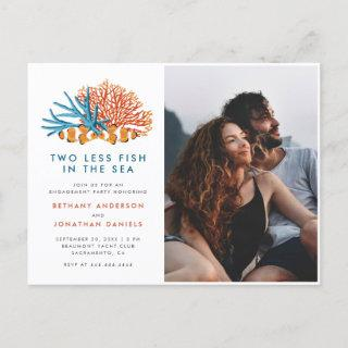 Two Less Fish In The Sea Photo Engagement Party Invitation Postcard