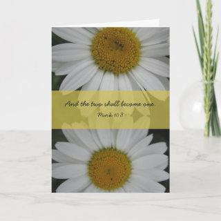Two Shall Become One Wedding Card