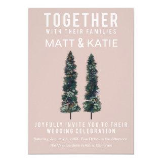 Two Trees Minimal Wedding Invitations