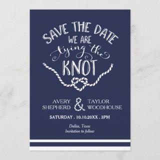Tying the Knot Calligraphy Save the Date