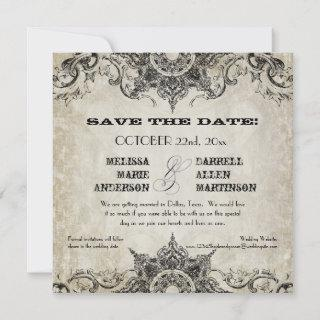 Typography Style Engravers Fonts Swirl Flourishes Save The Date