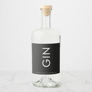 Ultra Modern Bold Big Monogram Simple Liquor Bottle Label