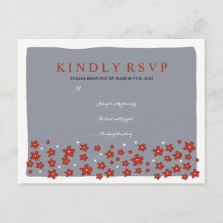 UNDER THE CHUPPAH Jewish Wedding Reply Card