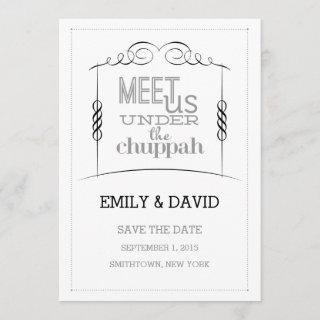 Under the Chuppah Jewish Wedding Save the Date