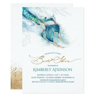 Under the Sea Mermaid Tail Bridal Shower Invitations