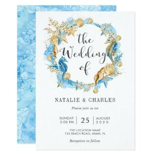 Under the Sea Summer Wedding Invitation