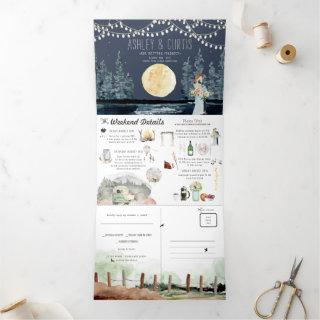 Under the Stars Wedding | Tri-Fold Invitations