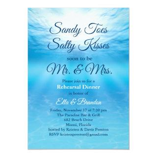 Underwater Sandy Toes Salty Kisses Rehearsal Invitation