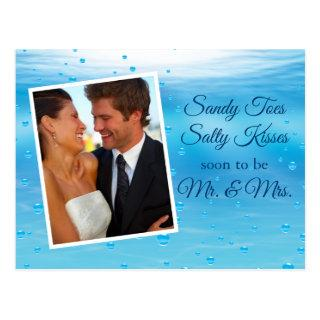 Underwater Sandy Toes Salty Kisses Save the Date Postcard
