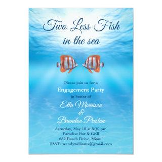 Underwater Two Less Fish in the Sea Engagement Invitations