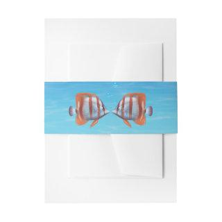 Underwater Two Less Fish in the Sea Invitation Belly Band