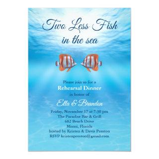 Underwater Two Less Fish in the Sea Rehearsal Invitations