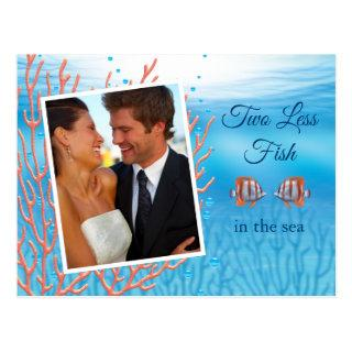 Underwater Two Less Fish in the Sea Save the Date Postcard