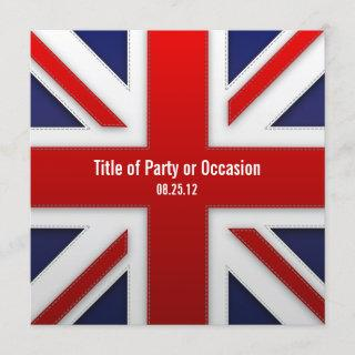 Union Jack Party Invitation / UK Party Invitation