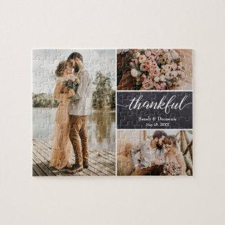 Unique Wedding Thank You Photo Collage Jigsaw Puzzle